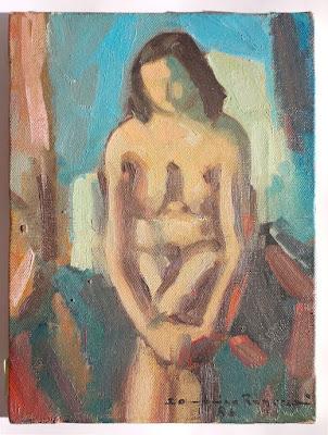 Domenica Regazzoni - nudo femminile - olio su tela - arte - annunci