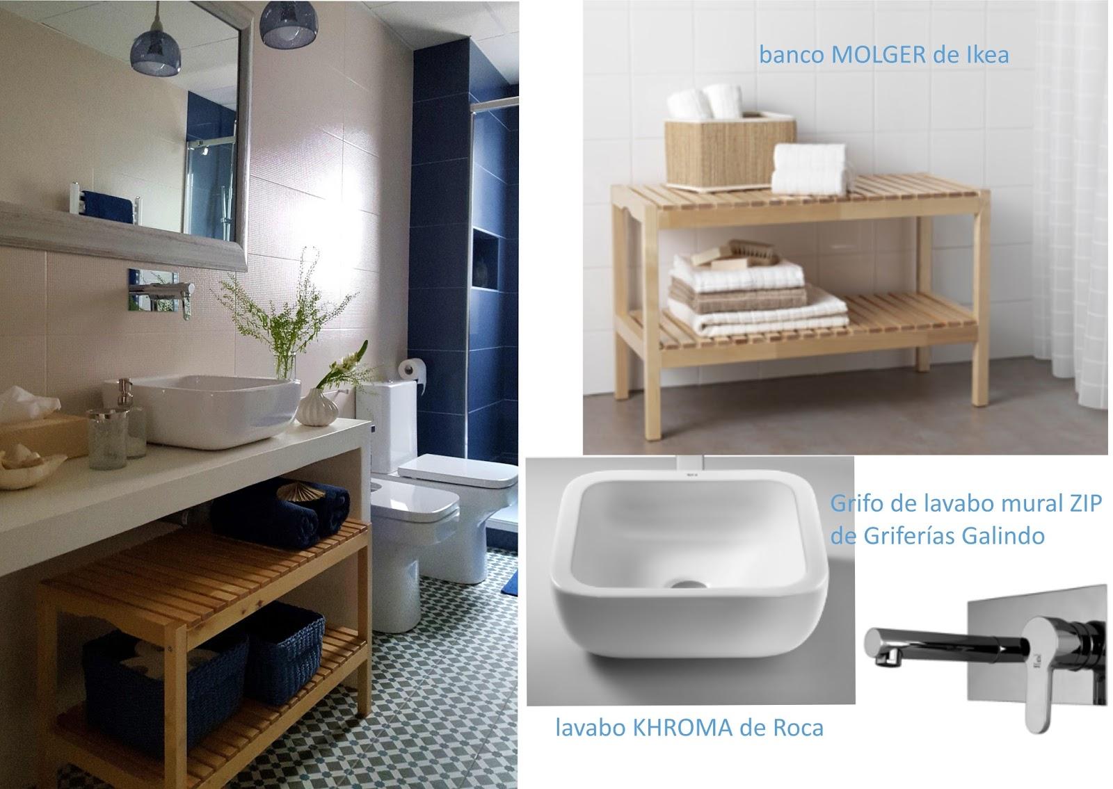 encimera de microcemento blanco con lavabo Khroma de Roca
