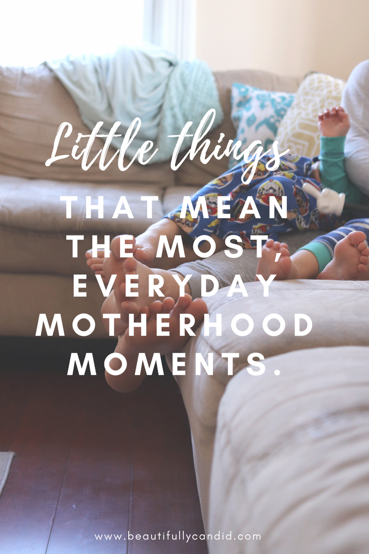 Little moments in motherhood