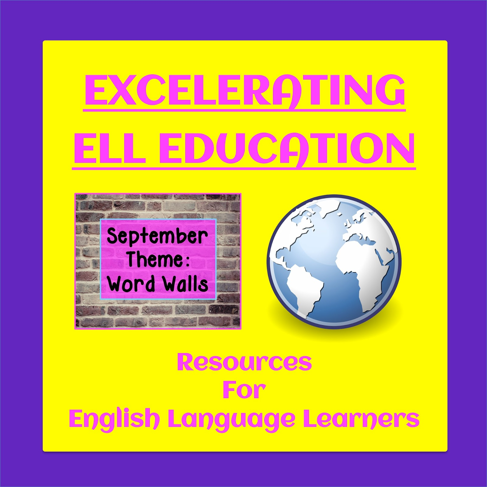Find resources for all kinds of word walls in this month's link up | The ESL Connection
