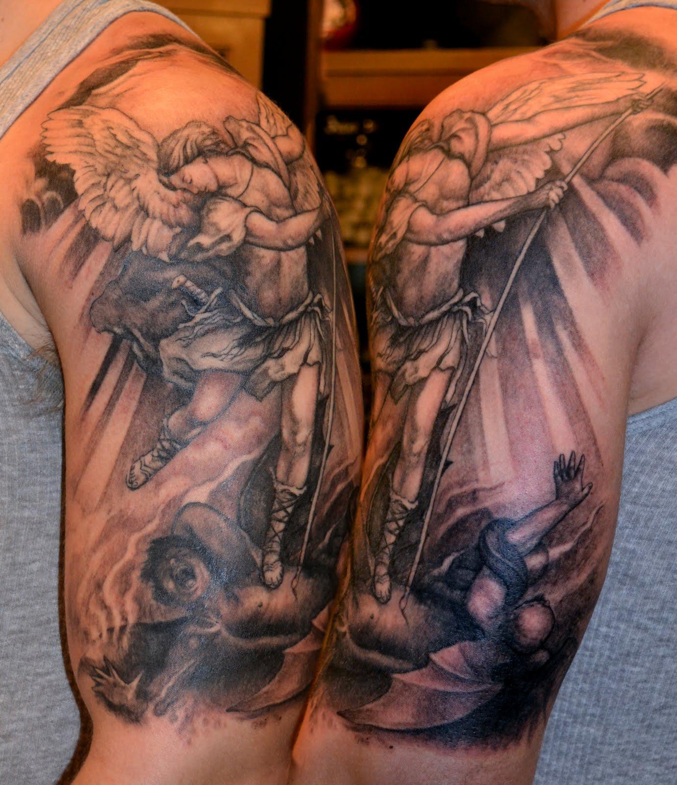 St Michael Tattoo: Tattoos By Scott Trerrotola: St. Michael Tattoo