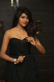 Shalu Chourasiya in spicy Sleeveless Strapless Black Top at O Pilla Nee Valla Movie Audio Launch Feb 2017 061.JPG