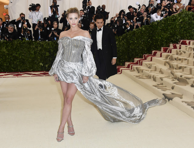 Lili Reinhart wears H&M to The Met Gala - Silver gown