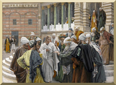 """""""The Tribute Money"""" -- by James Tissot - PD-1923"""