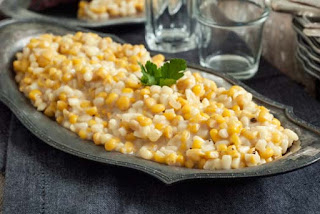homemade creamed corn in the crockpot slow cooker