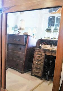 espejo con reflejo de escritorio feria de antiguedades de Noja