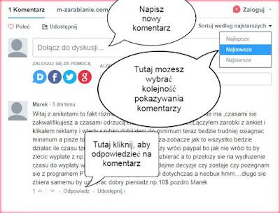 Jak dodać komentarz Disqus na blogu m-Zarabianie?