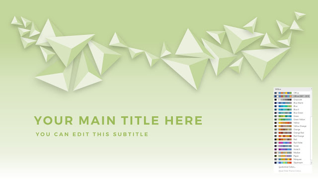 Free PowerPoint Abstract Polygons Title Template with Office 2007-2010 Color Scheme