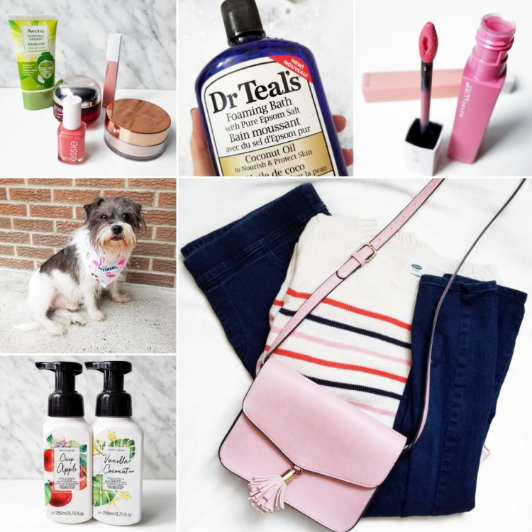 bblogger, bbloggerca, canadian beauty blog, lifestyle blogger, instagram, roundup, instamonth, monthly favorites, dr teals, coconut oil, maybelline, superstay, matte ink, dreamer, bath and body works, soap, ootd, essie, nude by nature, biotherm, aveeno