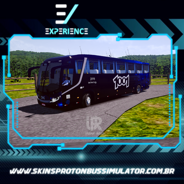 Skins Proton Bus Simulator Road - Comil Invictus MB O-500 RS Auto Viação 1001