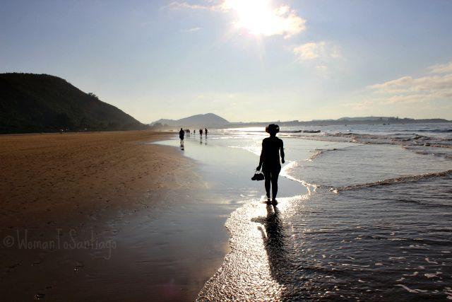 foto sunset playa de trengandin