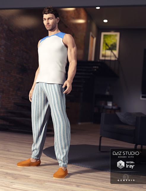 Relaxed Night Outfit for Genesis 3 Male