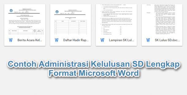 File Pendidikan Contoh Manajemen Kelulusan Sd Lengkap