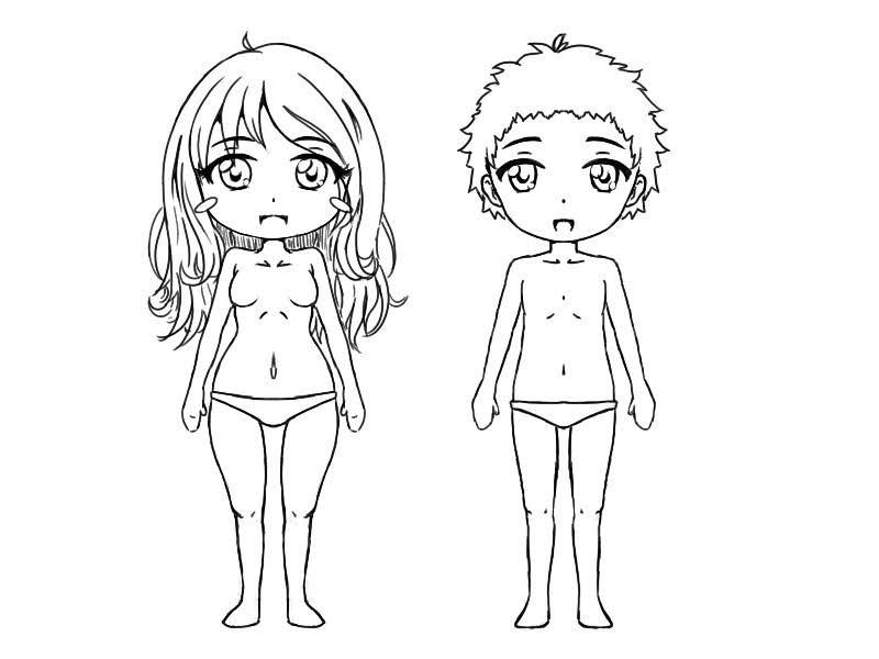 Chibi garçon et fille