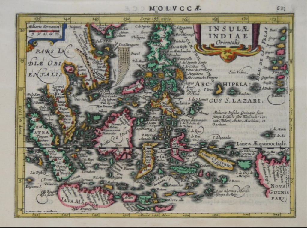 1628 Old Map of the Philippines under Spain includes Spratly Islands