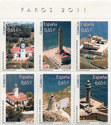 Sellos de la Hoja Bloque de Faros 2011