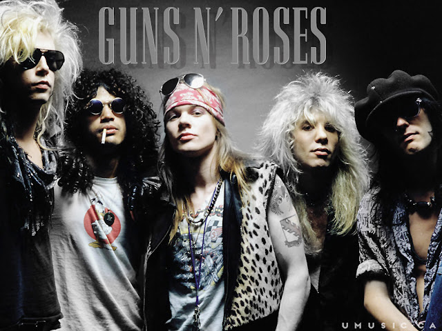 Resultado de imagem para Bon Jovi, Poison, Guns N' Roses, E AS BANDAS