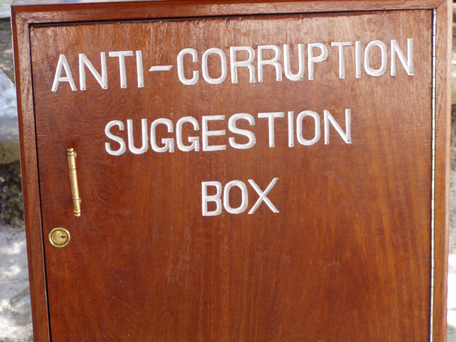 Anit-corruption suggestion box