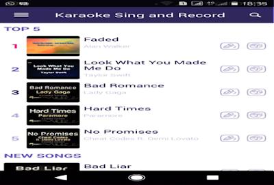 Aplikasi Sing & Record (yokee)