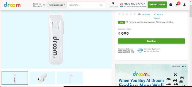 Droom Bluetooth Headset Sale 99 रुपये में Headset प्राप्त करें