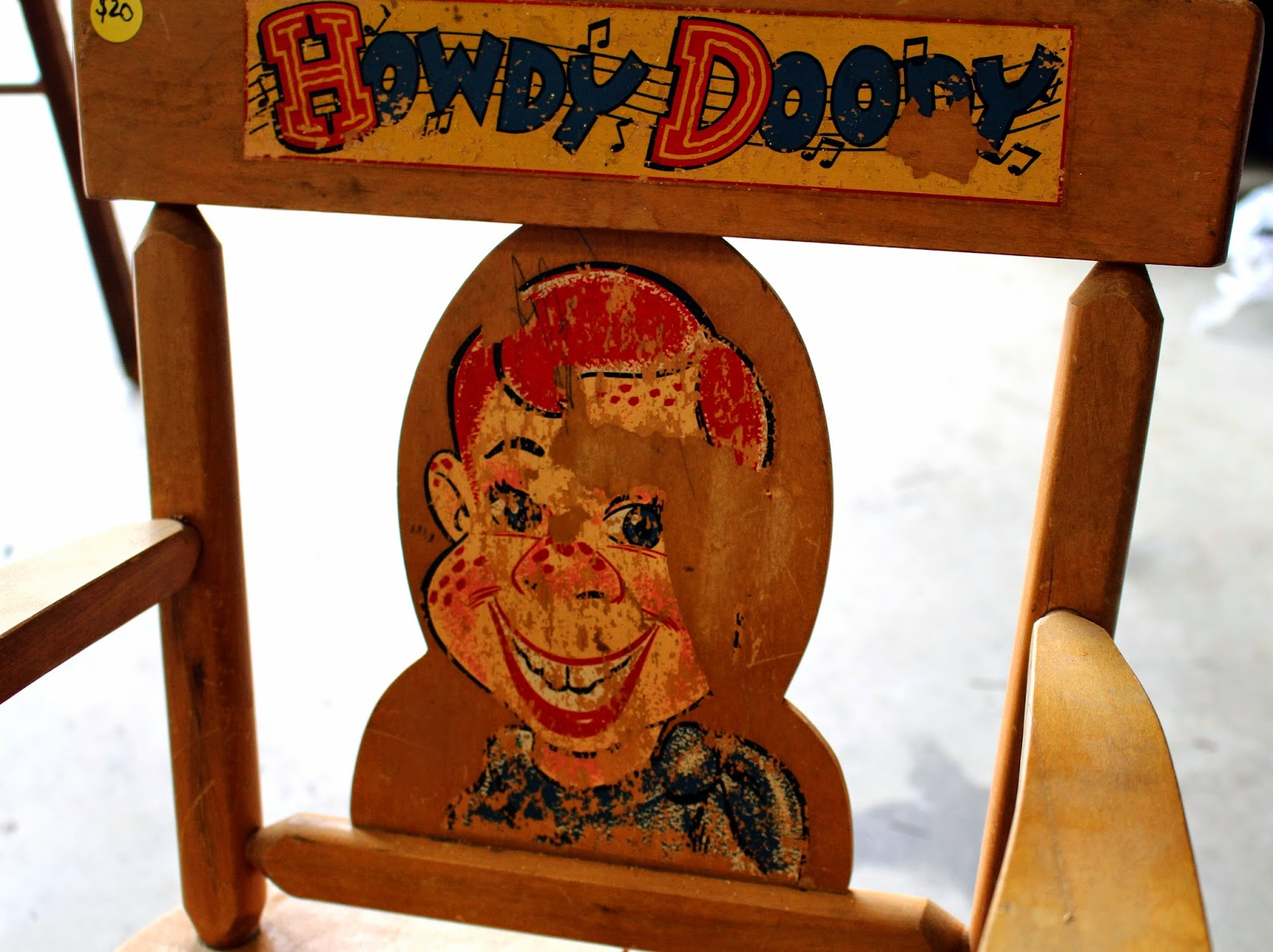 Howdy Doody Rocking Chair Big Lots Leather Harris Sisters Girltalk One Man 39s Trash Vintage Child