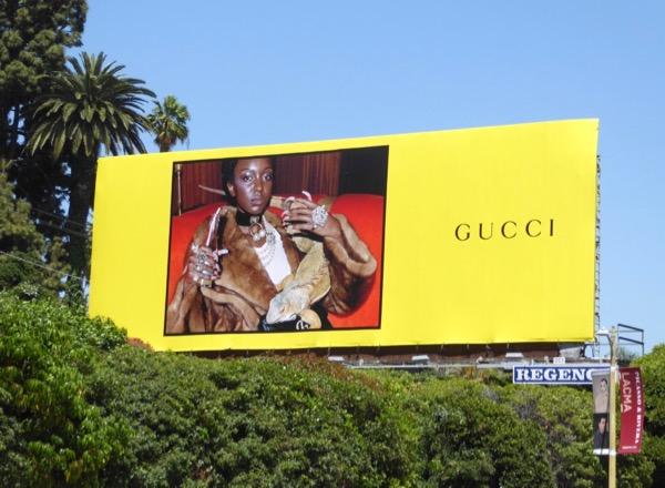 Gucci SS17 iguana billboard