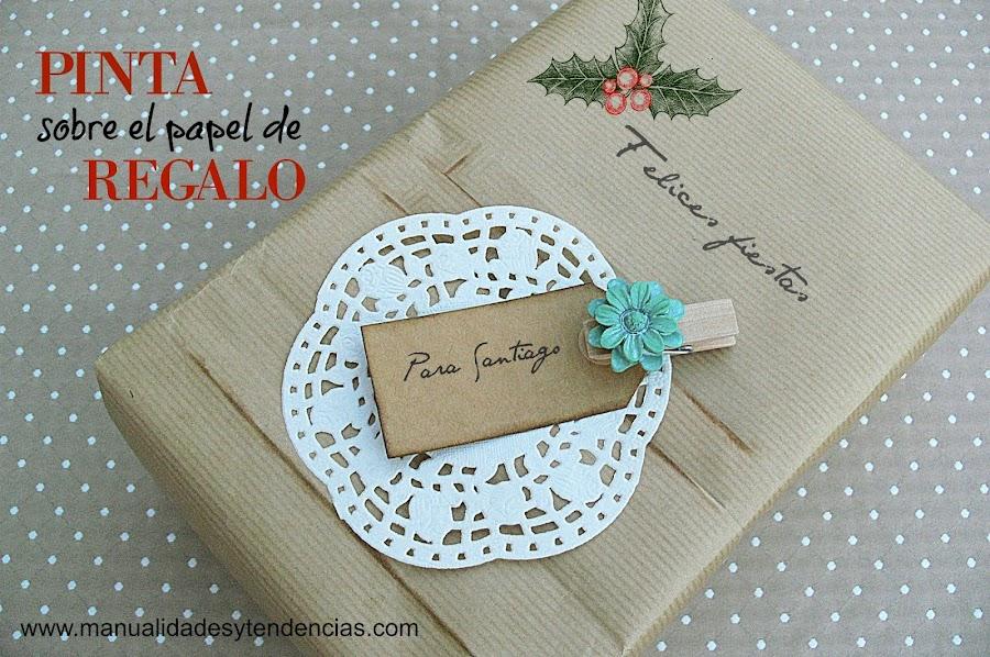 Cómo hacer tu propio papel de regalo pintándolo