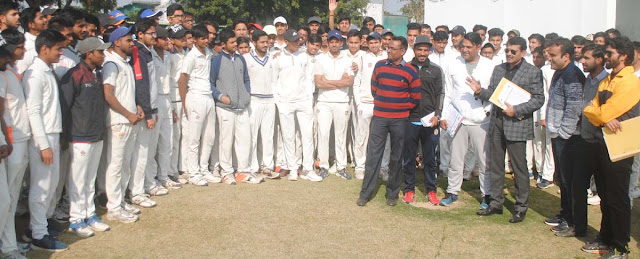 193 players took part in Greater Faridabad Under-19 Cricket Team Trial
