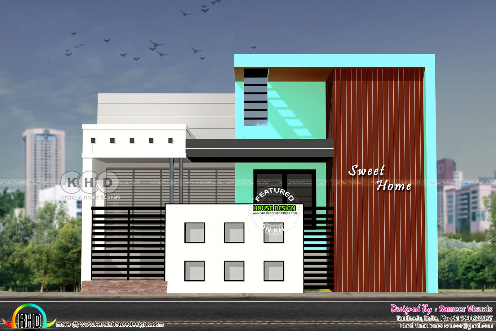 South Indian Style Single Floor House Plan Kerala Home