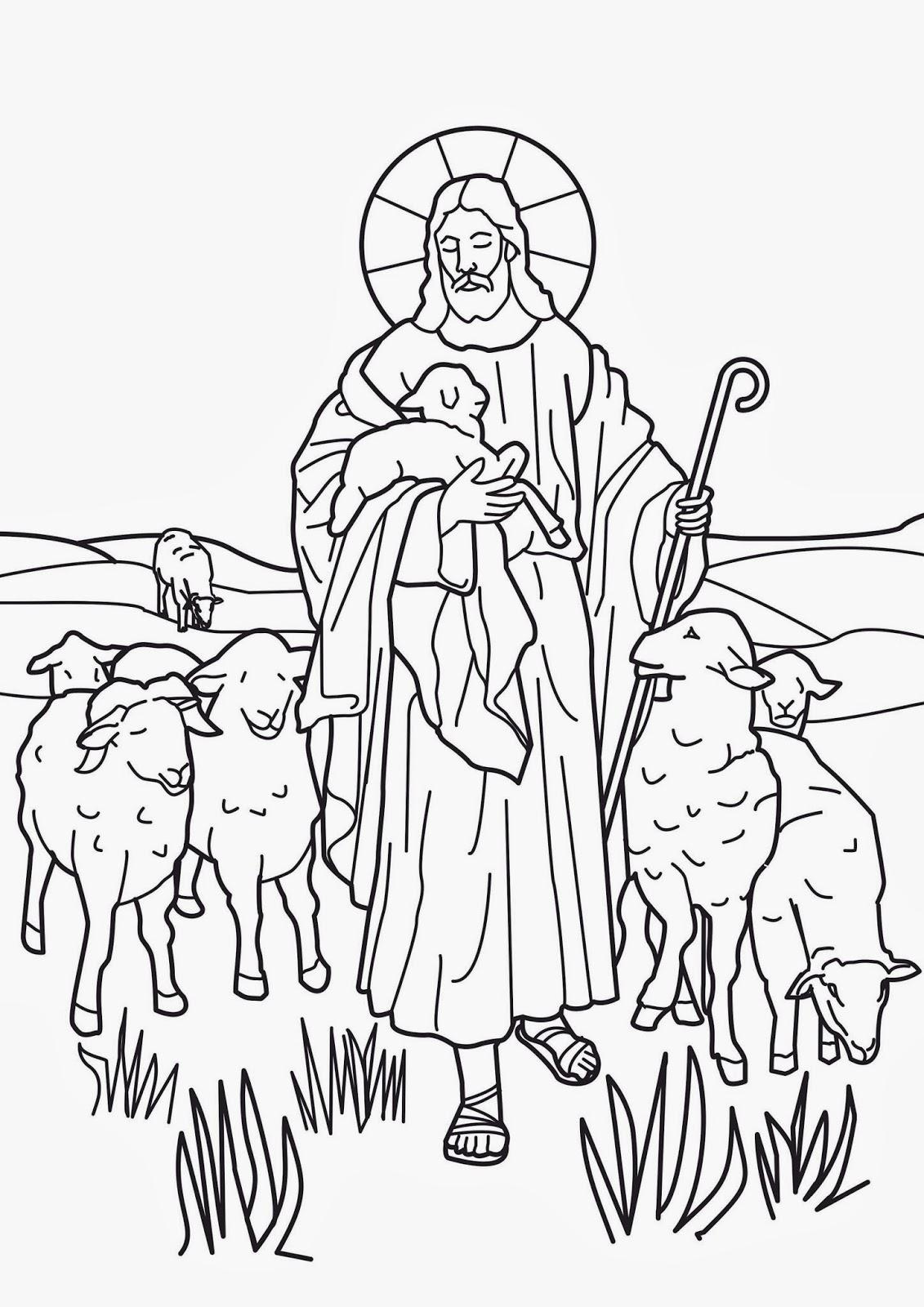 Imagenes Cristianas Para Colorear Dibujos Para Colorear De El Buen