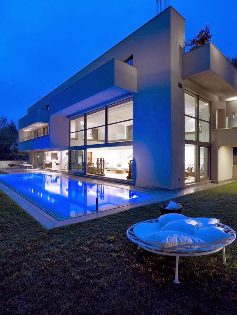 World Of Architecture Modern Mansion In Dionysos By Nikos