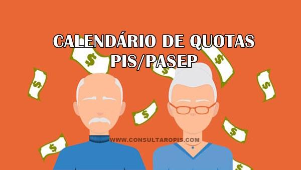 Calendário Saldo de Quotas PIS-PASEP