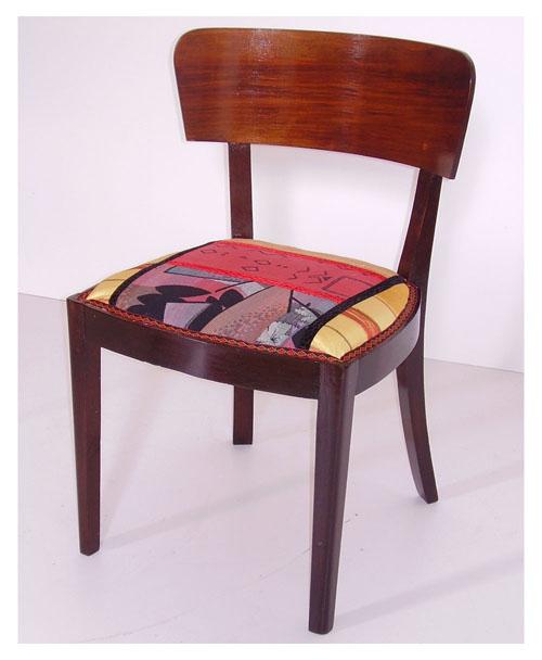 Sedie tessuto patchwork futurista art dec design myartistic for Sedie design tessuto
