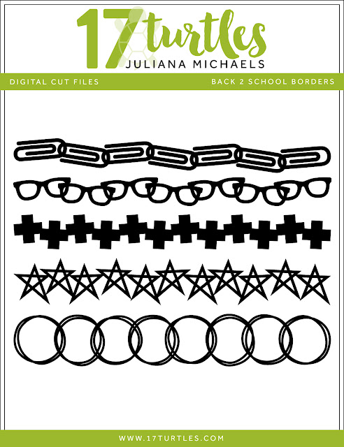 Back To School Borders Free Digital Cut File by Juliana Michaels 17turtles