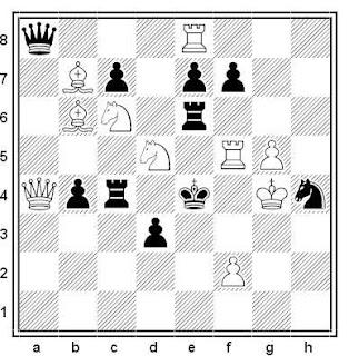 Problema de mate en 2 compuesto por Ottavio Stocchi (1º Premio, American Chess Bulletin 1950)