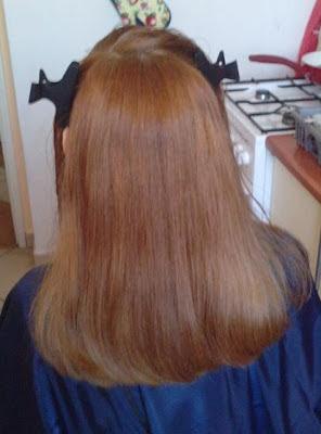 Wasze włosy u Mysi. Z zielono-rudych na toffi :)
