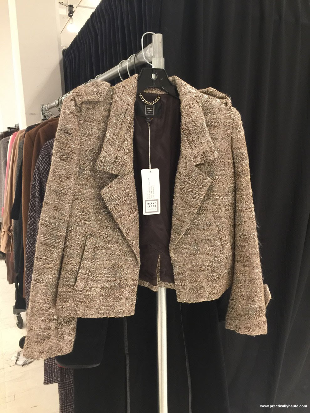 Herve Leger sample sale  tweed jacket
