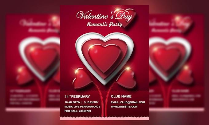 Valentine's Day – Love Event Flyer free psd