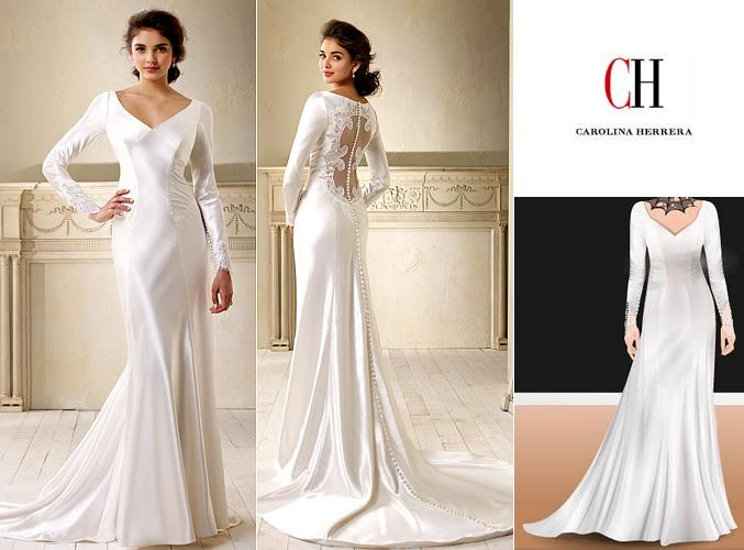 Bella Cullen Wedding Dress Carolina Herrera