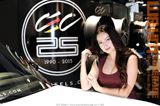 The beautiful brunette brand ambassador Serenity Shay for CEC Wheels in SEMA 2015