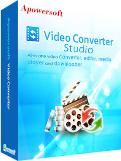 Apowersoft Video Converter Studio - Convert between popular multimedia formats and extract audio tracks from videos.