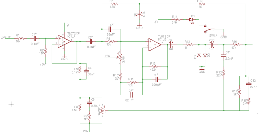 Coda Effects - Klon Centaur circuit ysis on