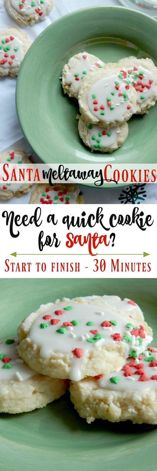 Santa Meltaway Cookies