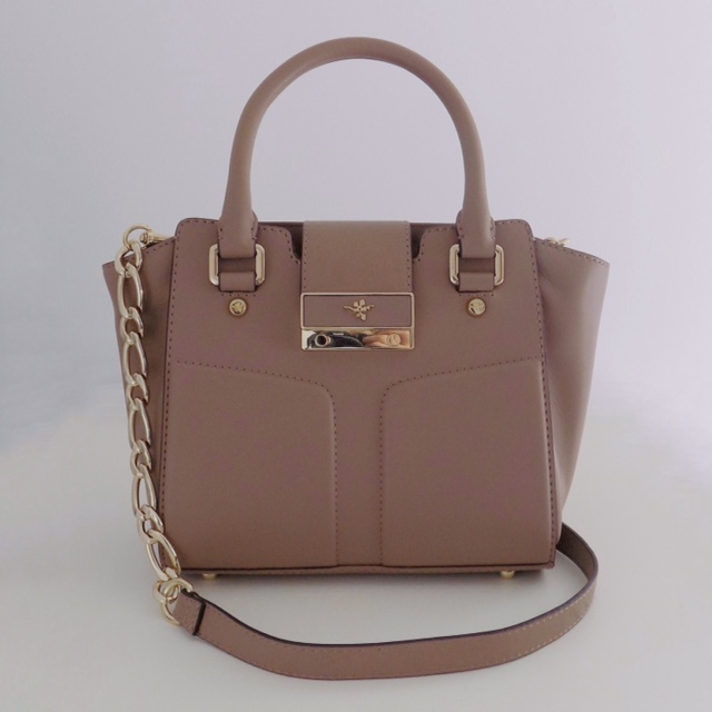 Alexa grab bag in clay by Ilex London