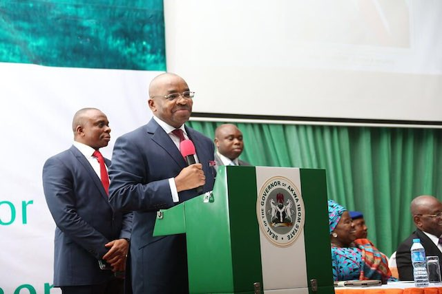 Governor Udom Emmanuel of Akwa Ibom state: says his state under siege