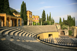 The amphitheatre at Il Vittoriale degli Italiani, the stadium  D'Annunzio built next to his home overlooking Lake Garda