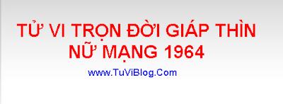 TU VI GIAP THIN 1964 NU MANG