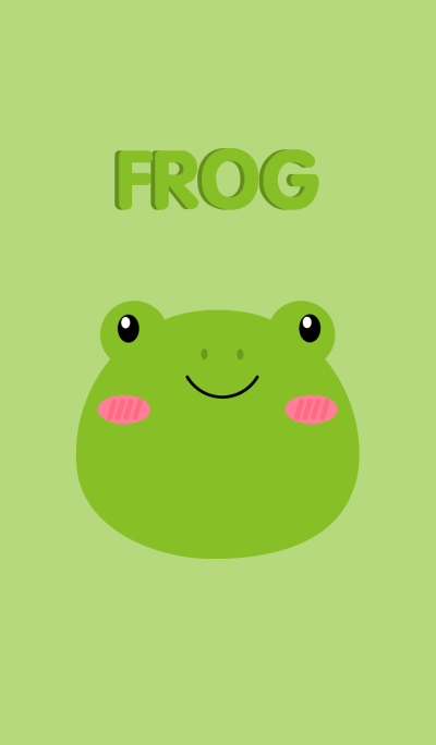 Cute Face Frog Theme