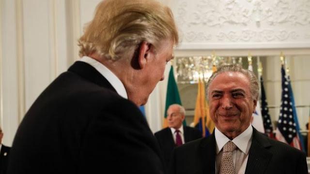 """Michel Temer diz a empresários em Nova York que """"investir no Brasil é ganhar""""."""