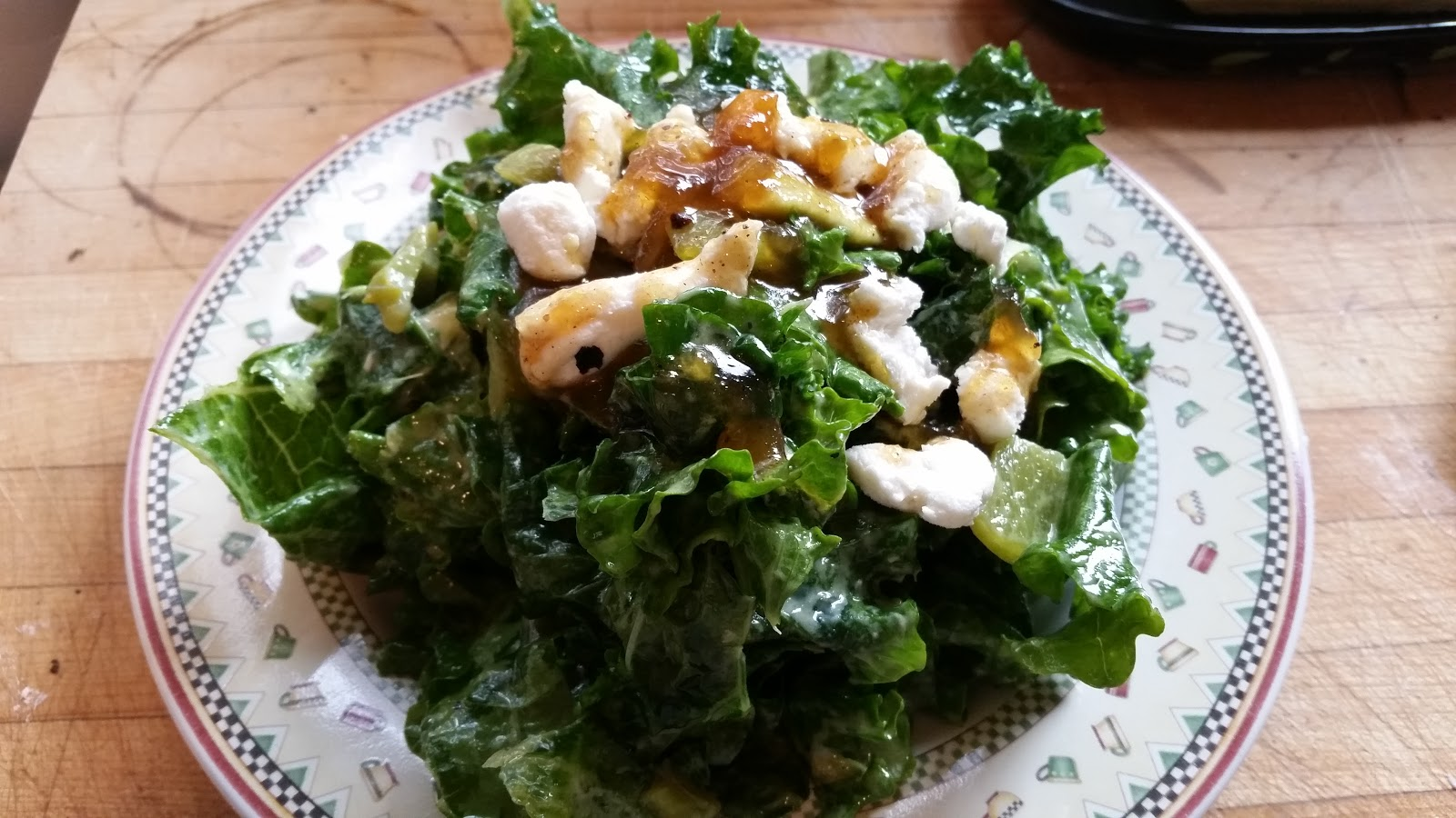 from an Autistic Chef: Massaged kale salad with goat cheese avocado ...